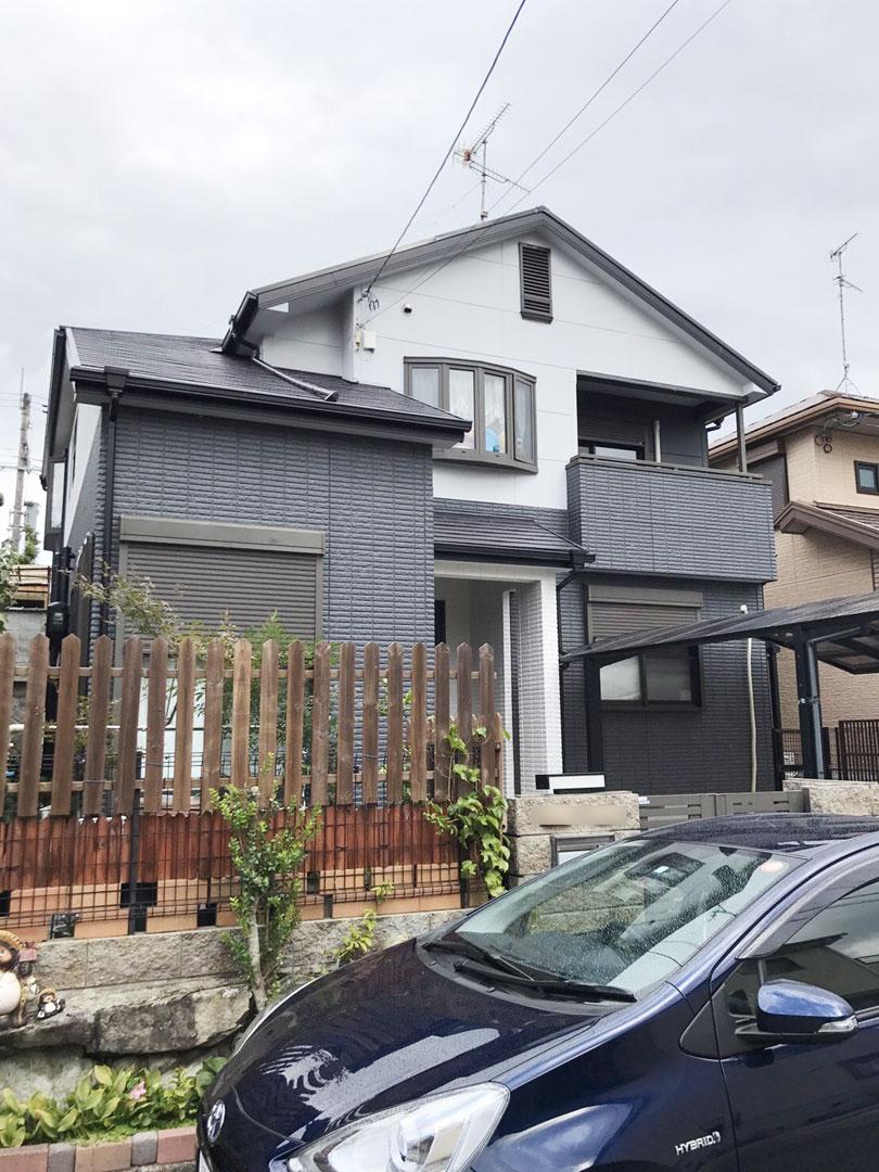 川西市清和台 モダンな雰囲気に大変身!外壁塗装工事