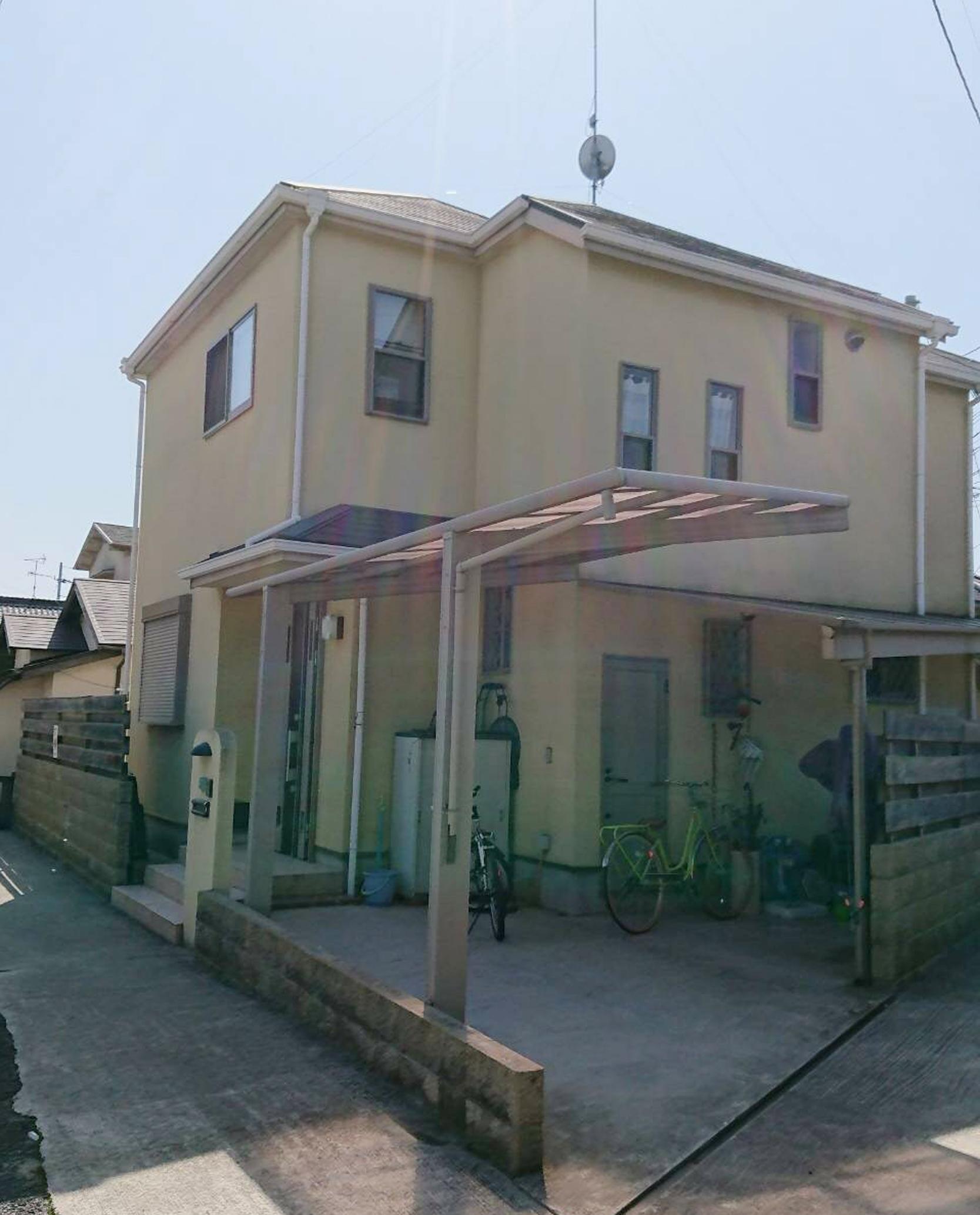川西市下加茂 雨漏れ対策も考えての外壁塗装工事
