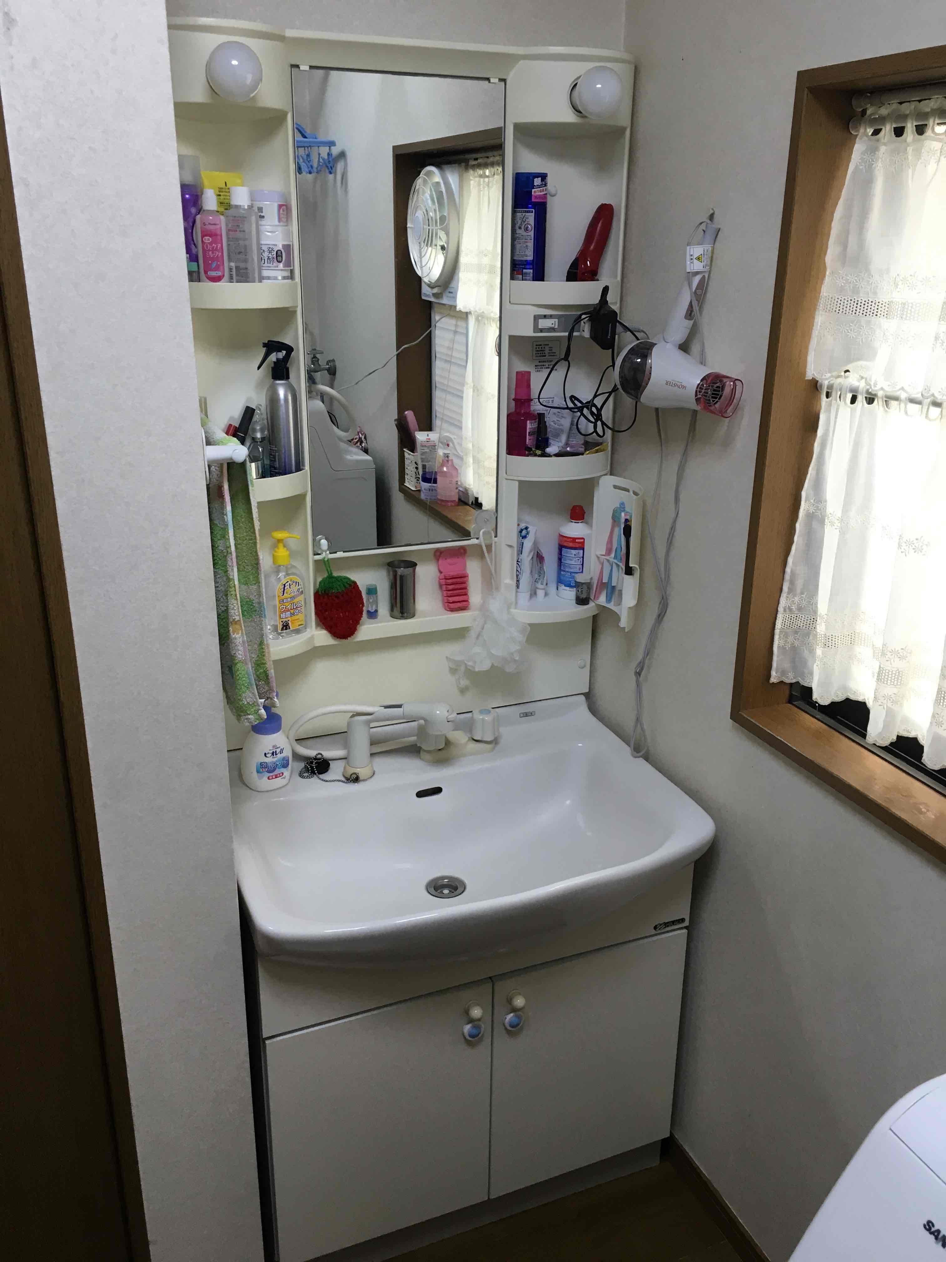 洗面化粧台交換工事
