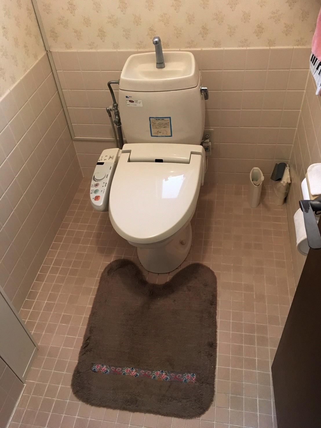 池田市荘園 トイレ交換工事 お掃除ラクラク♪最新トイレへ!