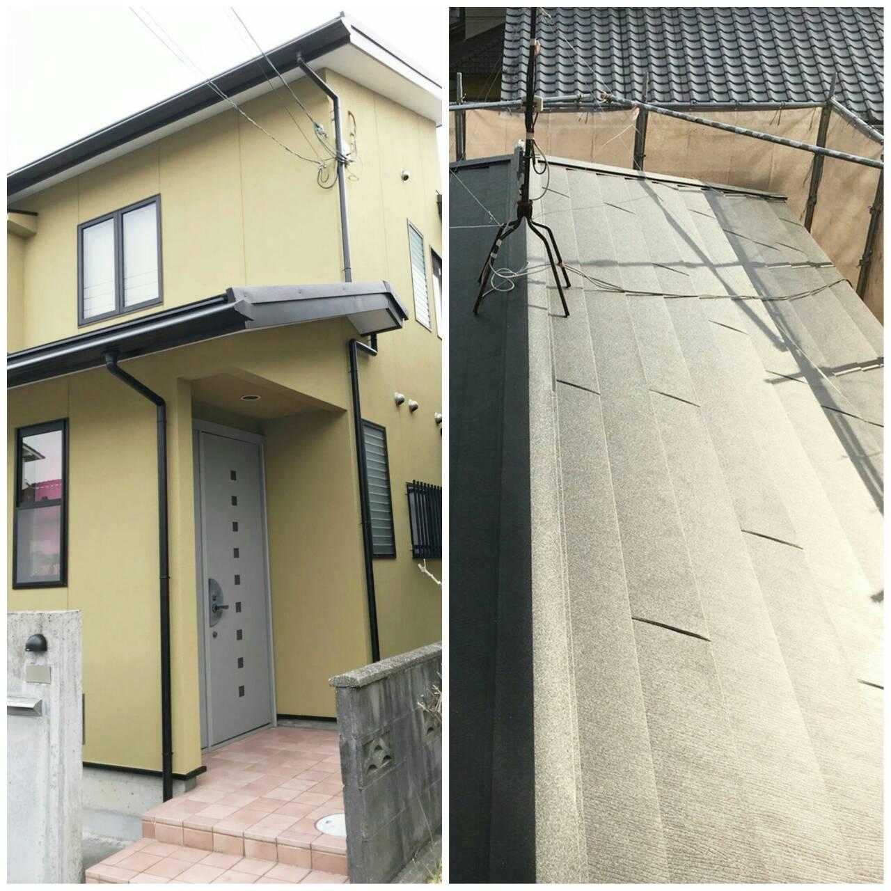 川西市東畦野 お気に入りの色目を再現!外壁塗装・屋根被せ葺き