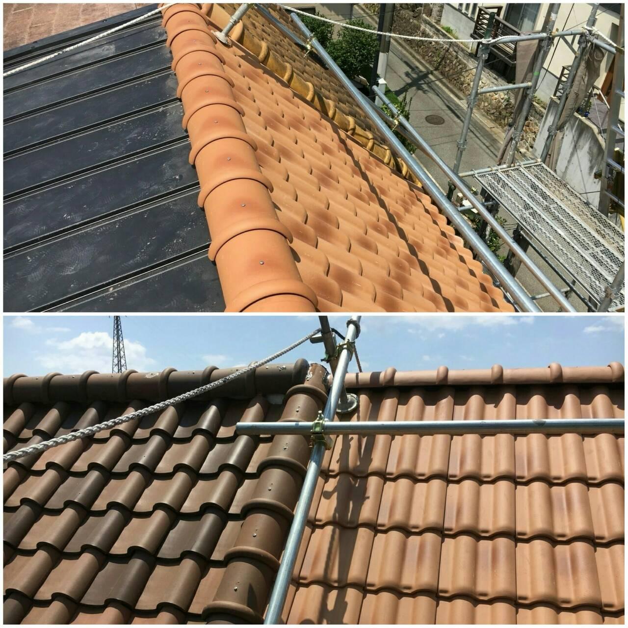 宝塚市御殿山・屋根塗装リフォームで雨漏り対策!見た目もこだわりました